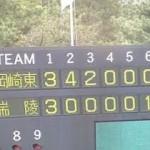 2014年、夏、1回戦。岡崎東VS瑞陵「岡崎東が立ち上がりの猛攻でゲームを決めた」