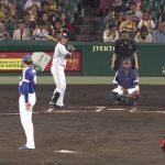 【プロ失格】阿知羅がストライクが入らず、あちら(阪神)の投手(秋山)にボール球を空振りしてもらい三振達成の屈辱!